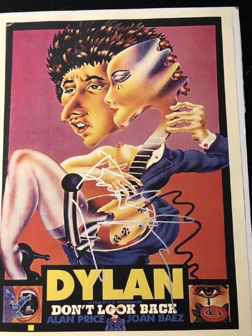 Bob Dylan signed Don't Look Back Poster