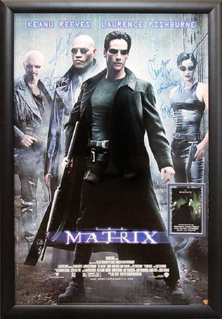 The Matrix - Signed Movie Poster