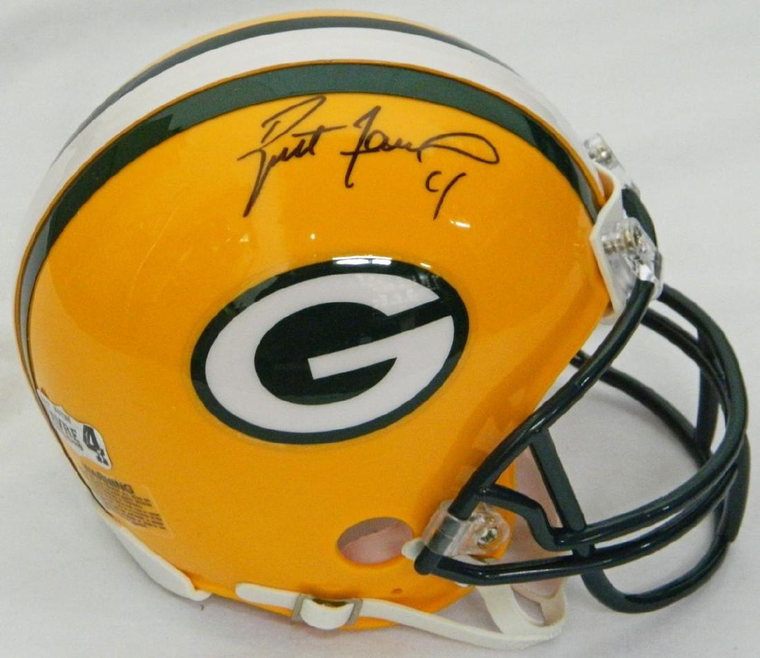 Brett Favre Signed Green Bay Packers Riddell Mini