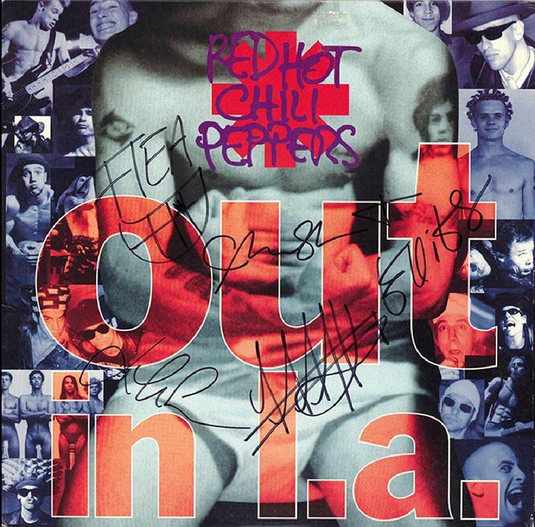 Red Hot Chili Peppers Band Signed Out In L.A. Album