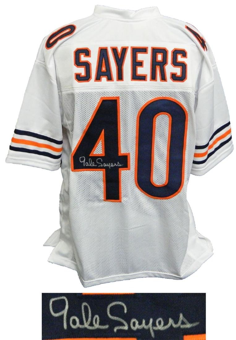 Gale Sayers Signed White Custom Football Jersey
