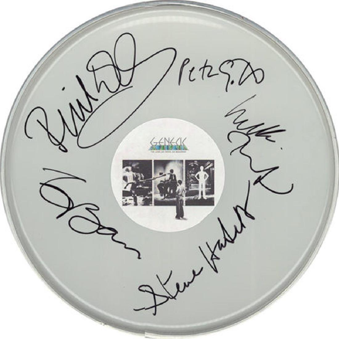 Genesis Band Signed Drum Head