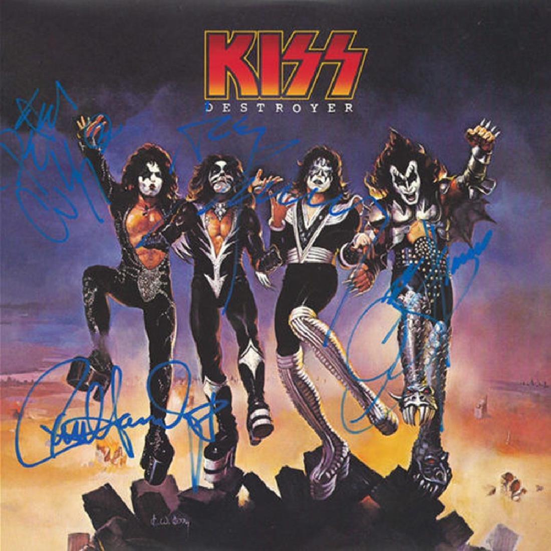 "Kiss ""Destroyer"" Signed Album"