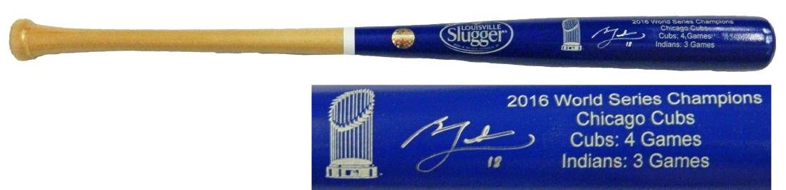Ben Zobrist Signed Louisville Slugger Chicago Cubs 2016
