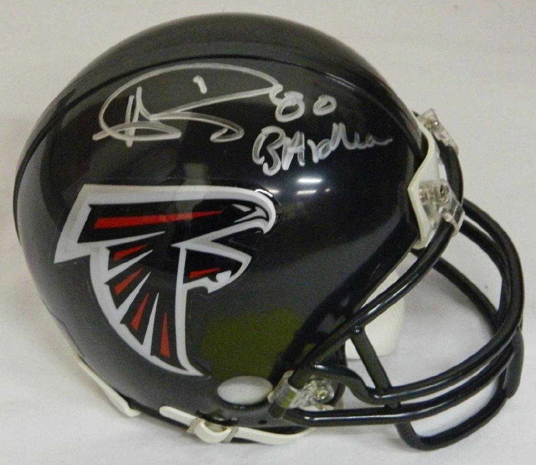 Andre Rison Signed Atlanta Falcons Black Riddell Mini
