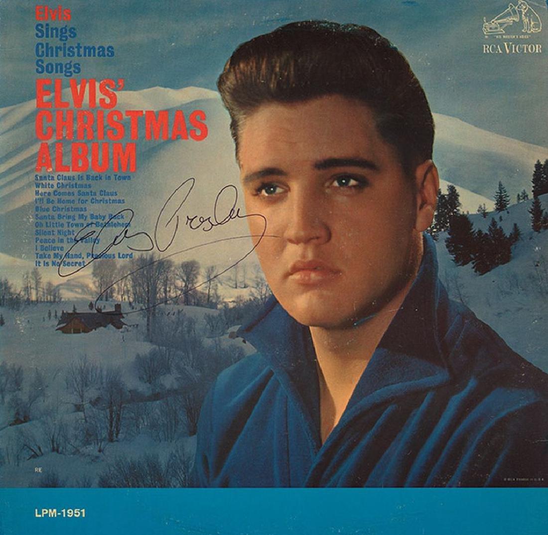 Elvis Presley Signed Elvis' Christmas Album