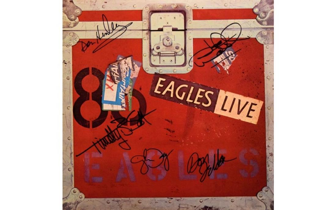 The Eagles Signed Live - 1980 Album