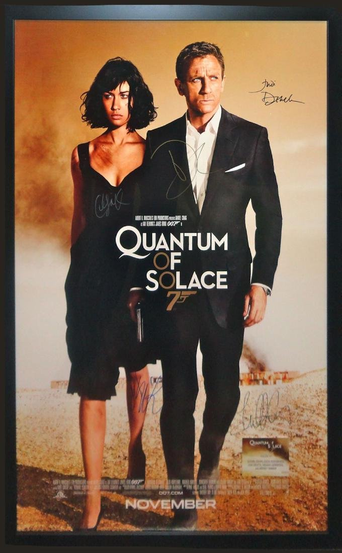 James Bond Quantum of Solace Signed Movie poster