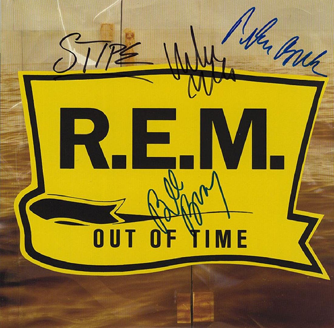 """REM Signed """"Out Of Time"""" Album"""