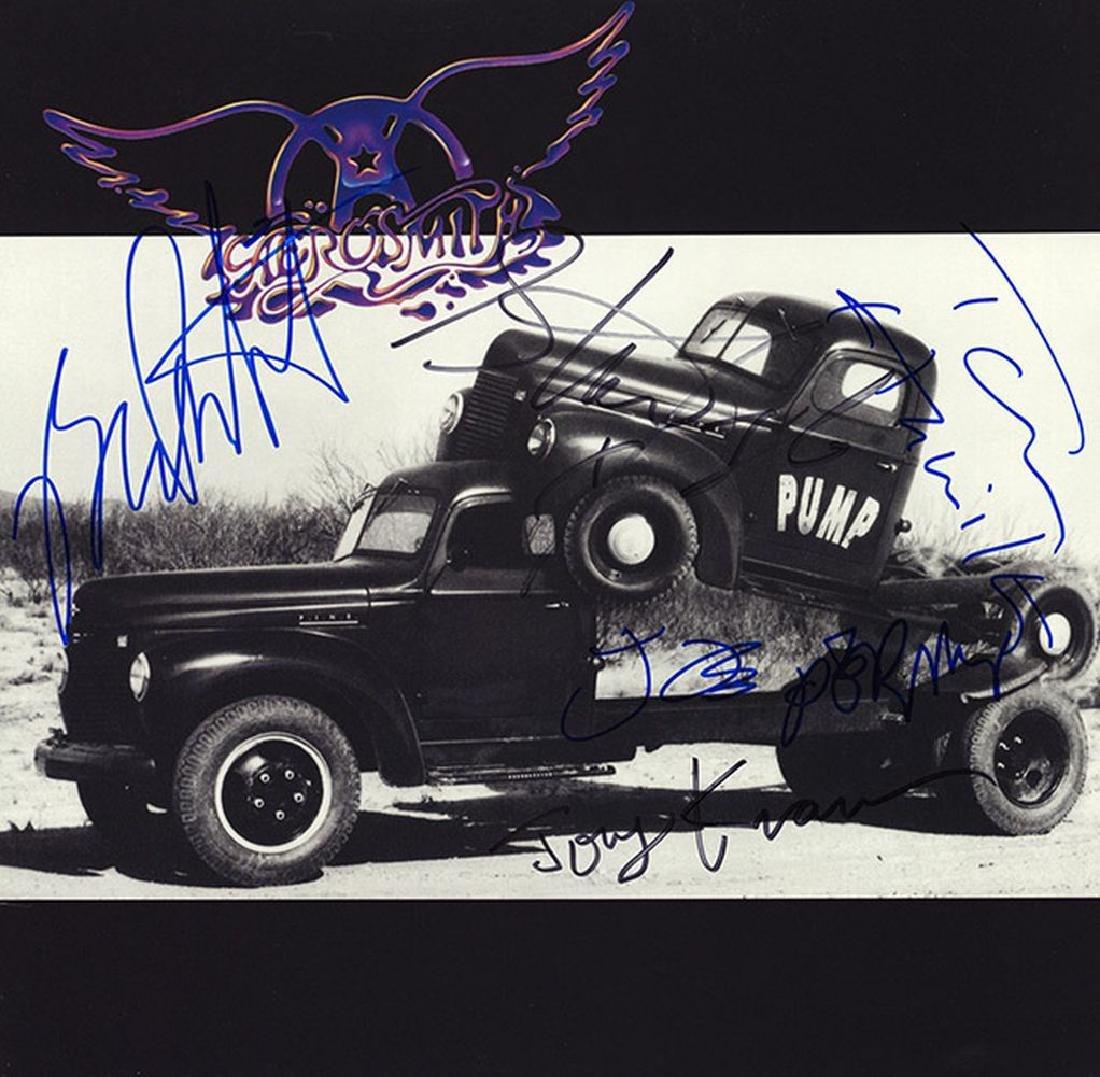 Aerosmith Band Signed Pump Album