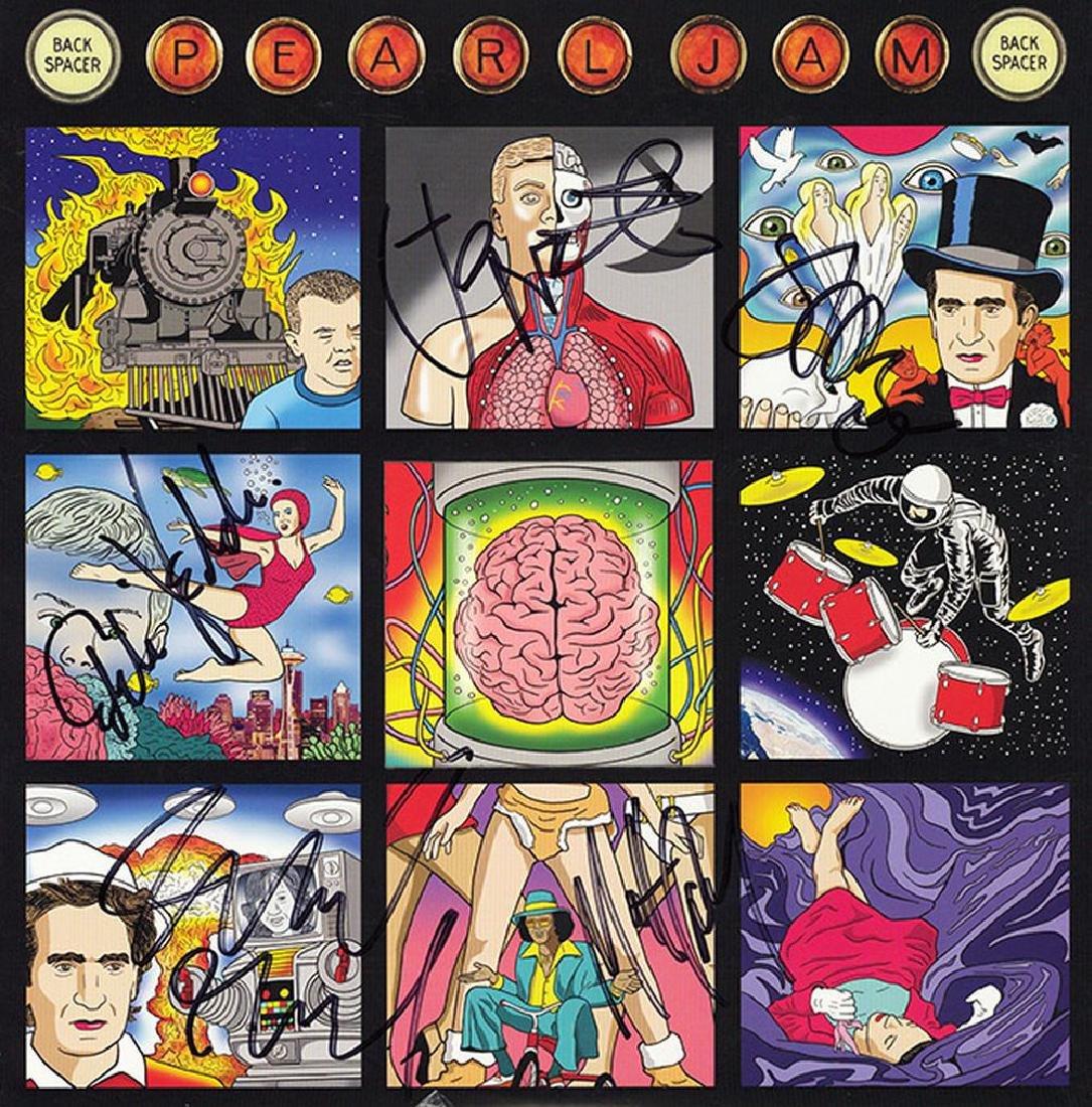 Pearl Jam Band Signed Back Spacer Album