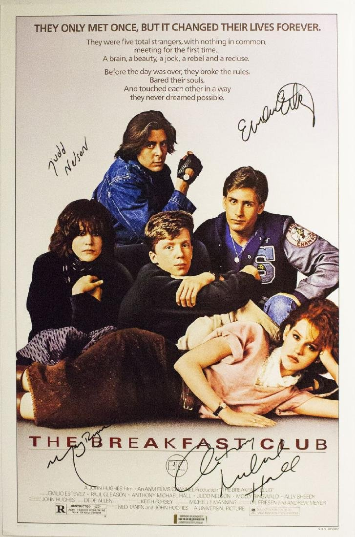 Breakfast Club – Signed Movie Poster