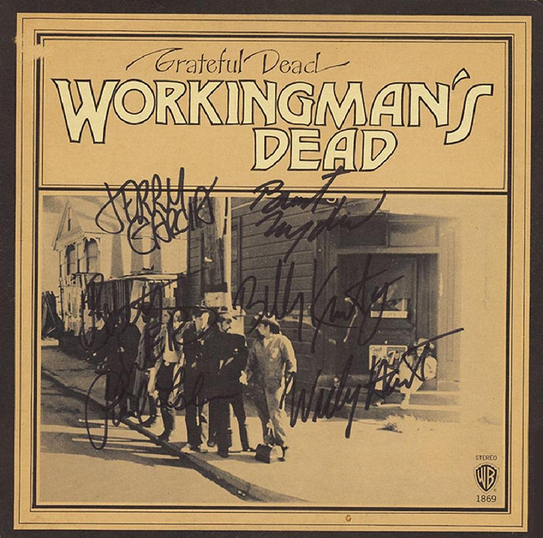 Grateful Dead Band Signed The Working Man's Dead