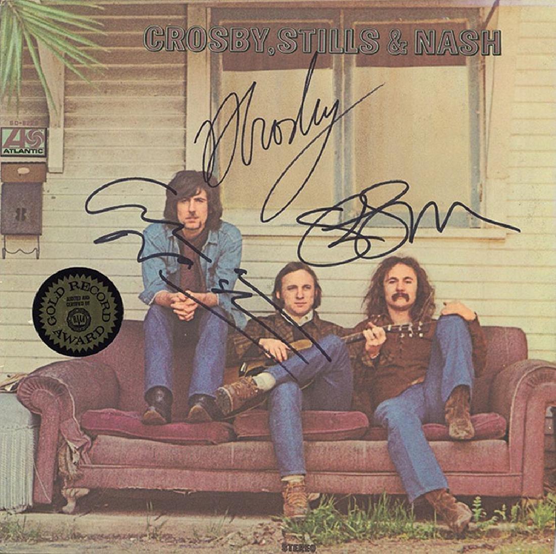 Crosby Stills and Nash Band Signed Crosby Stills And