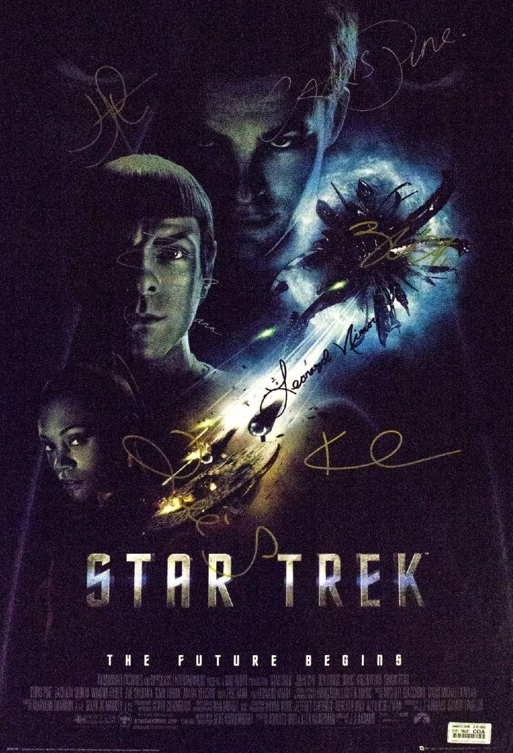 Star Trek The Future Begins – Signed Movie Poster