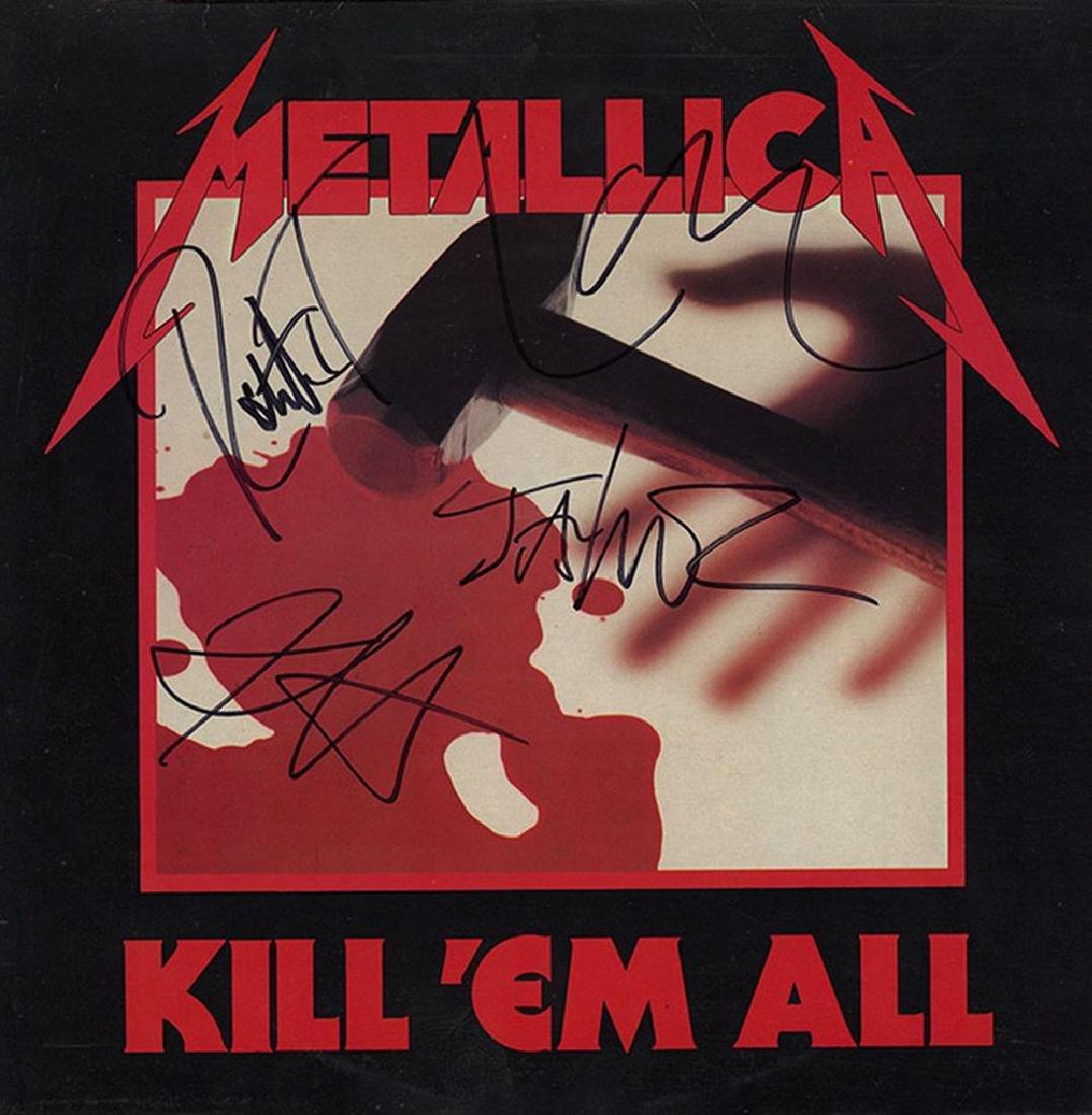 Metallica Band Signed Kill 'Em All Album