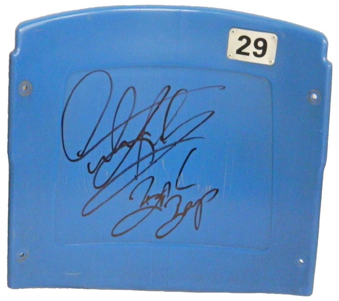 Dennis Rodman Signed Detroit Silverdome Blue Stadium