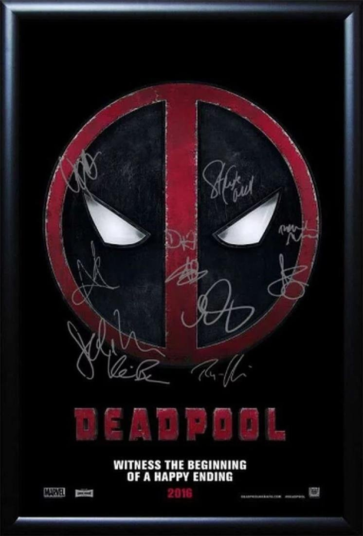 Deadpool - Cast Signed Movie Poster