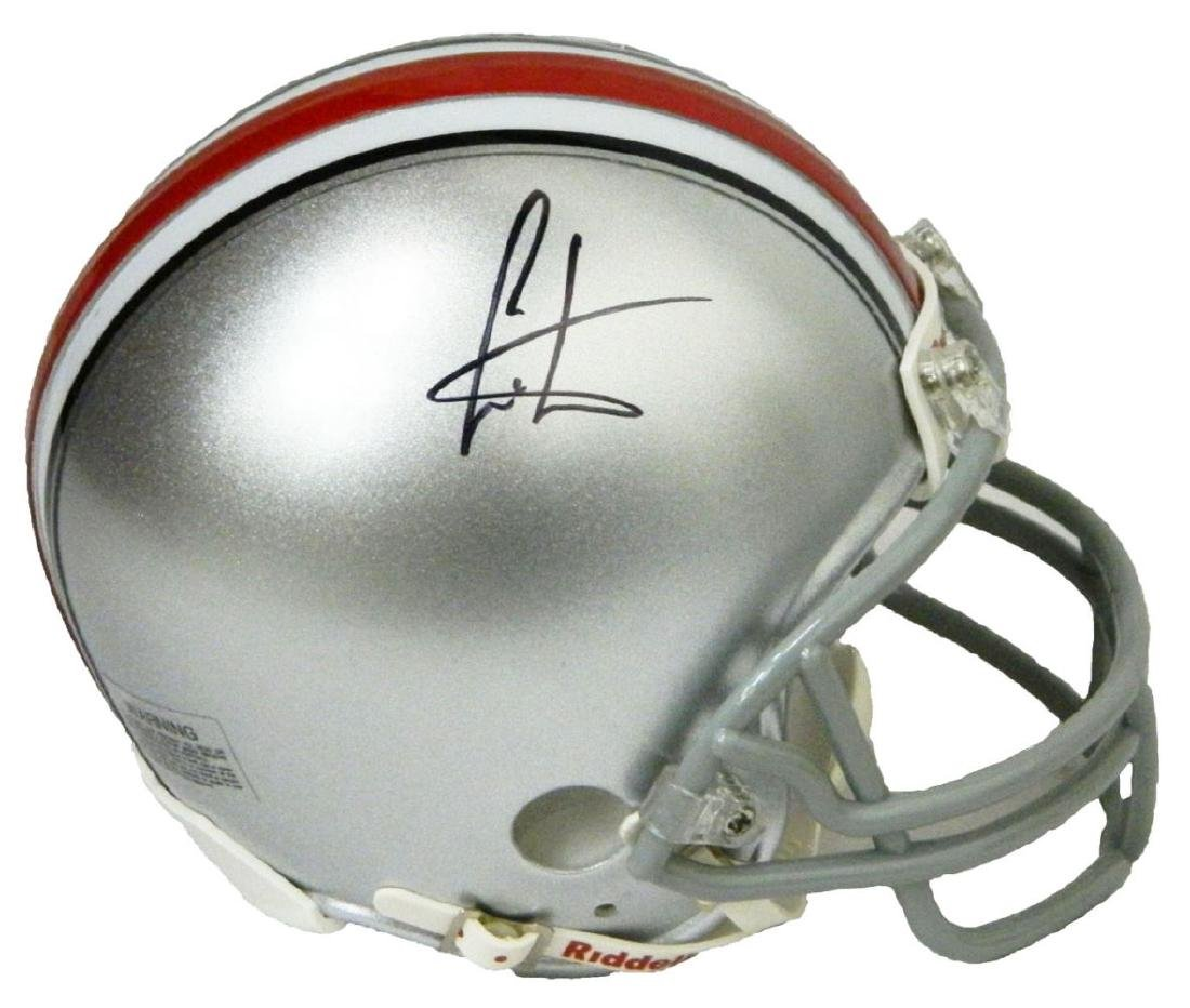 Cris Carter Signed Ohio State Buckeyes Riddell Mini