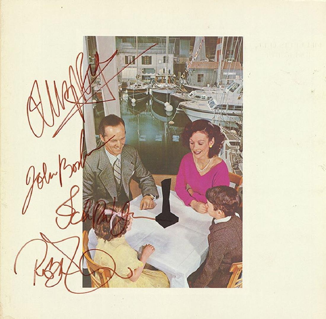 Led Zeppelin Band Signed Presence Album