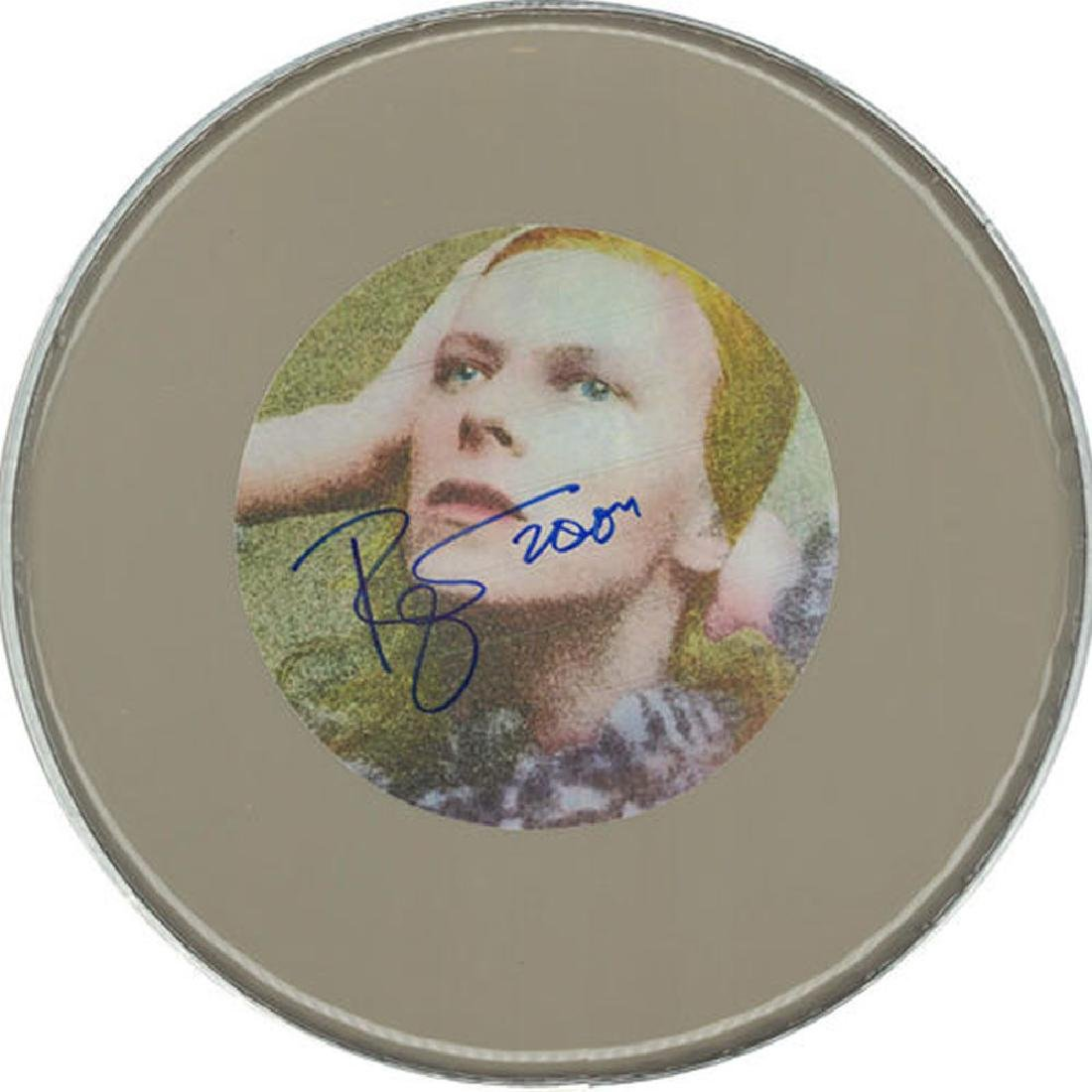 David Bowie '04 Signed Drum Head