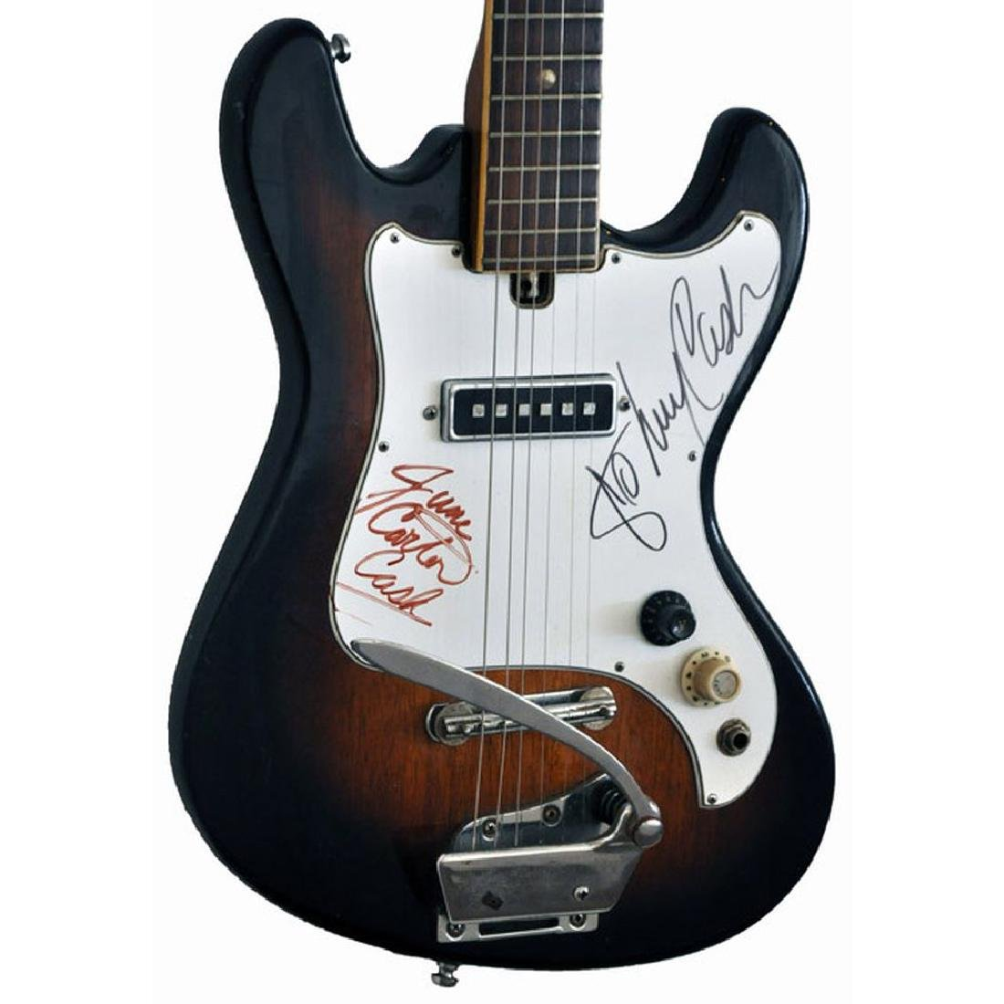 Johnny Cash & June Carter Signed Guitar