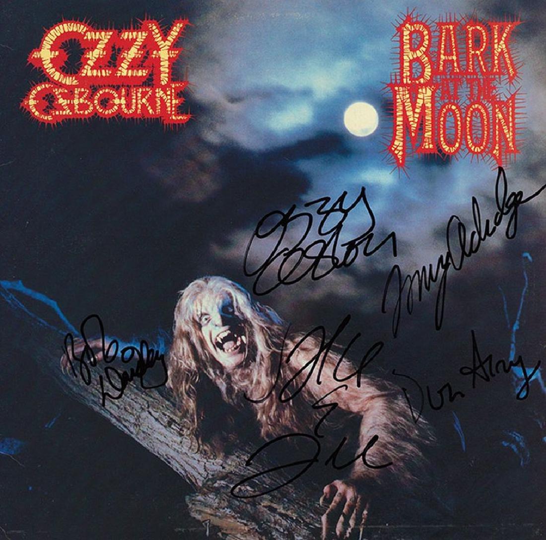Ozzy Osbourne Band Signed Bark At The Moon Album