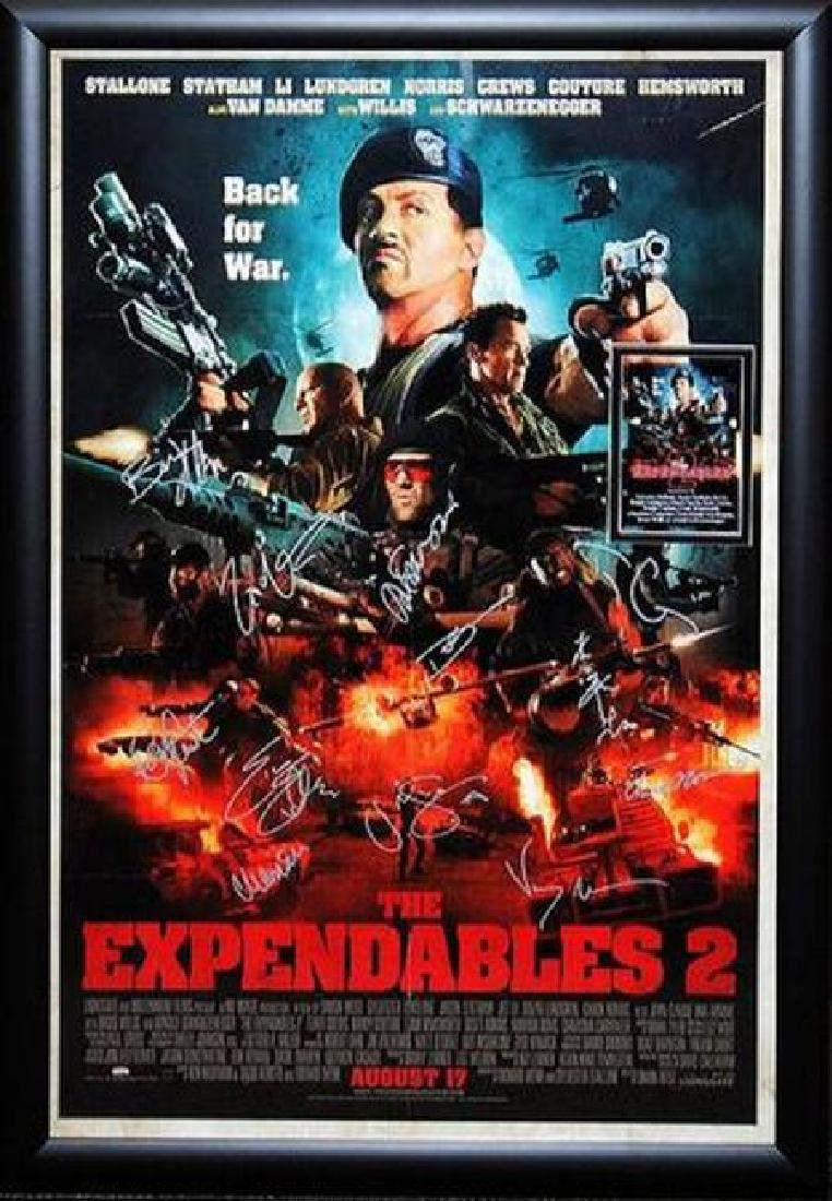 Expendables 2 -  Signed Movie Poster