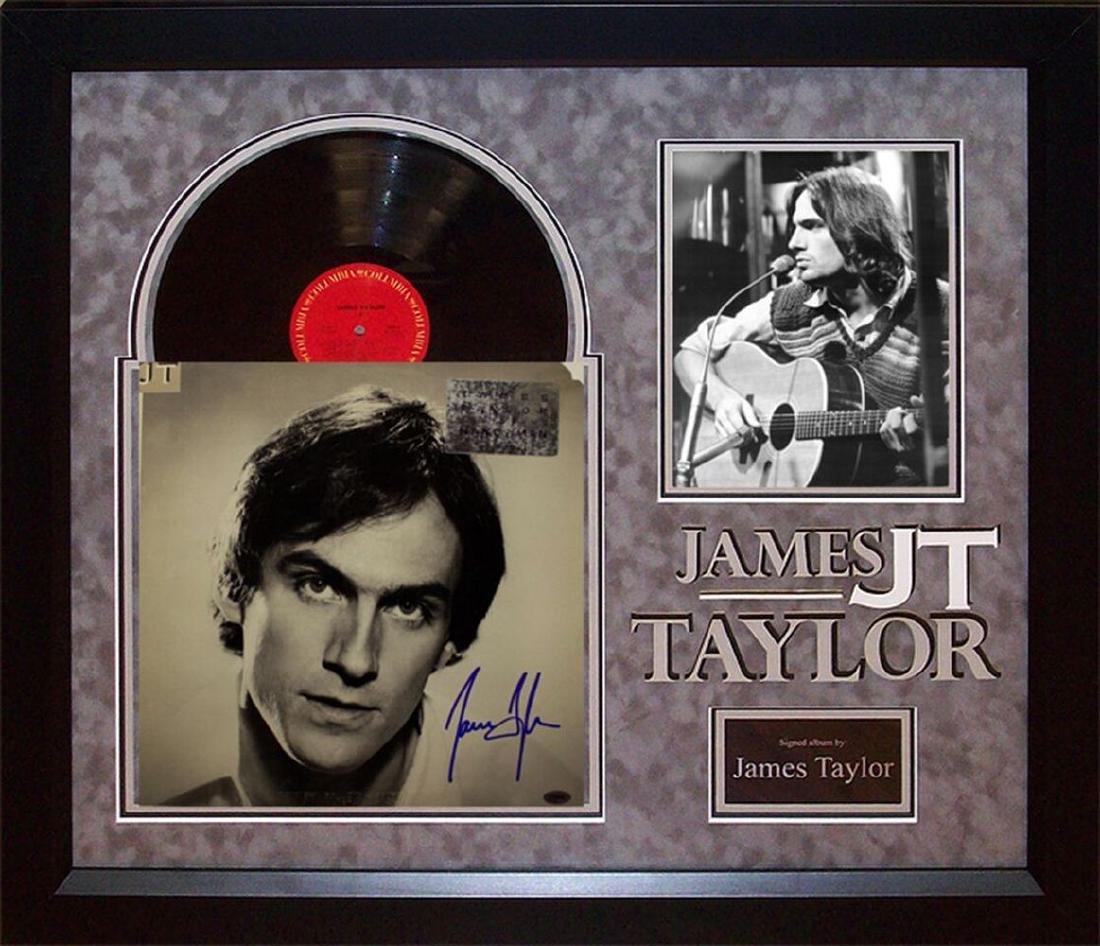 James Taylor Autographed Album Framed
