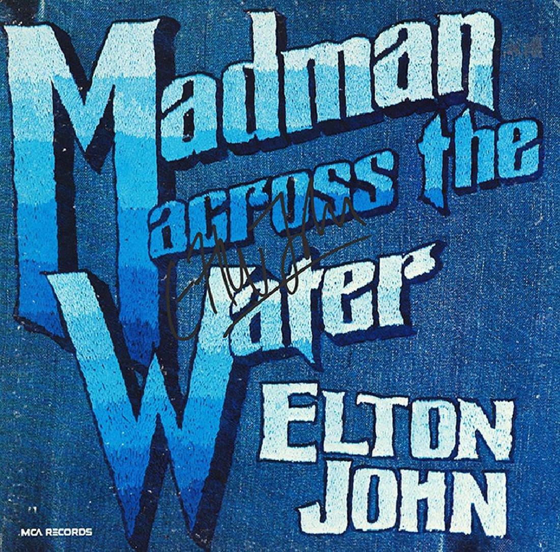 Elton John Signed Madman Across The Water Album