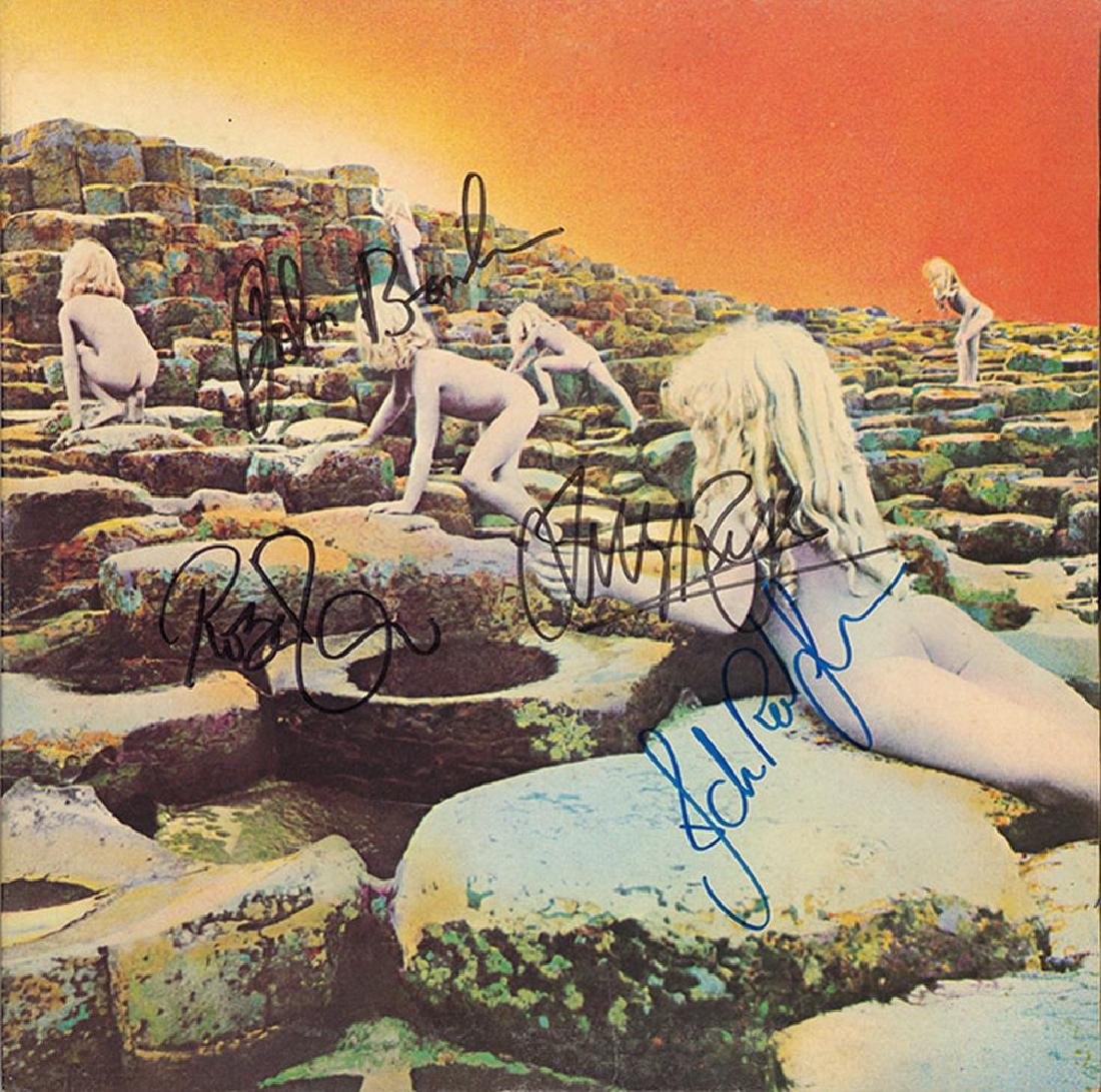 Led Zeppelin Band Signed Houses Of The Holy Album