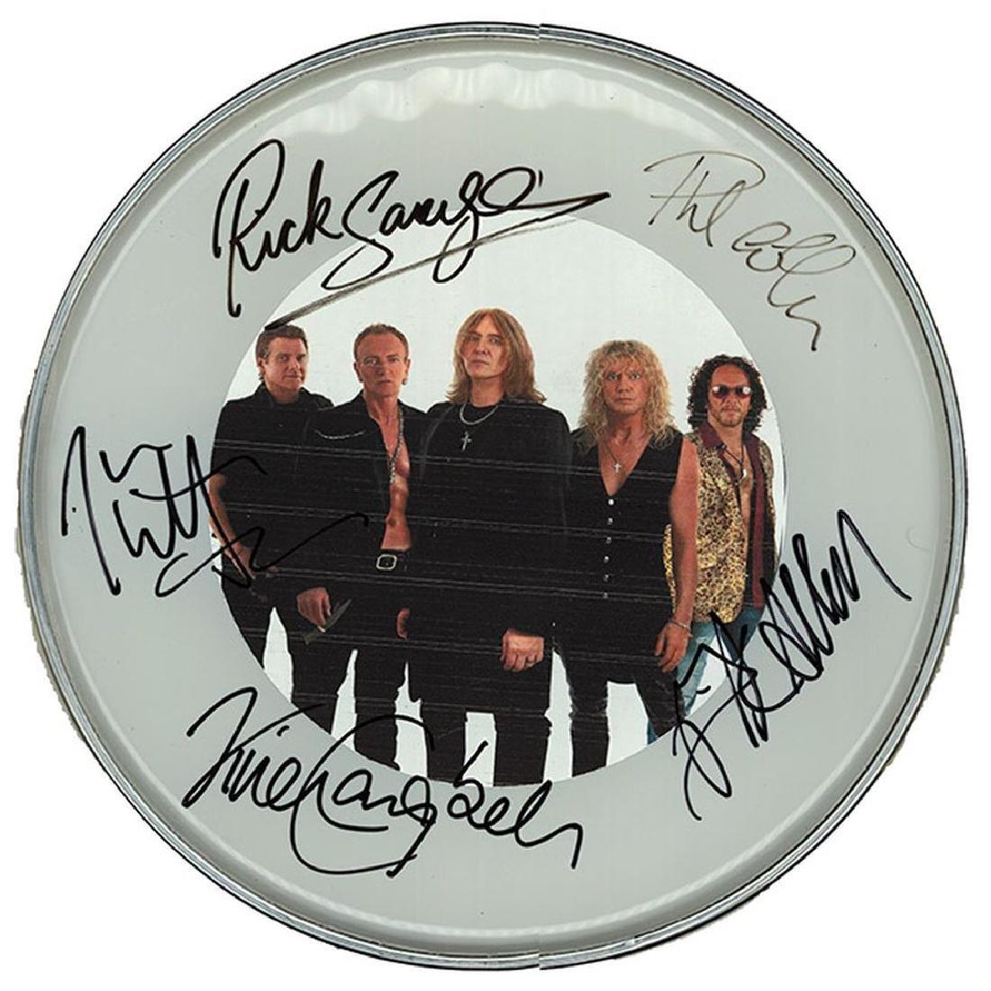 Def Leppard Band Portrait Drum Head