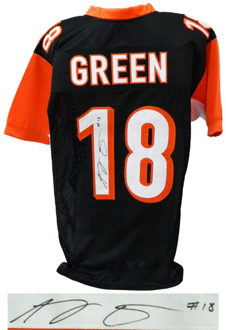 A.J. (AJ) Green Signed Black Custom Football Jersey -
