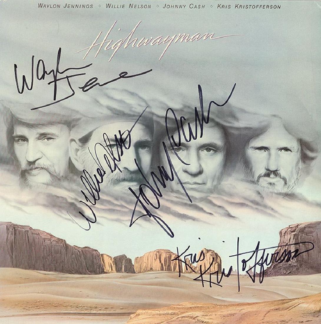 Highwayman Signed Self Titled Album