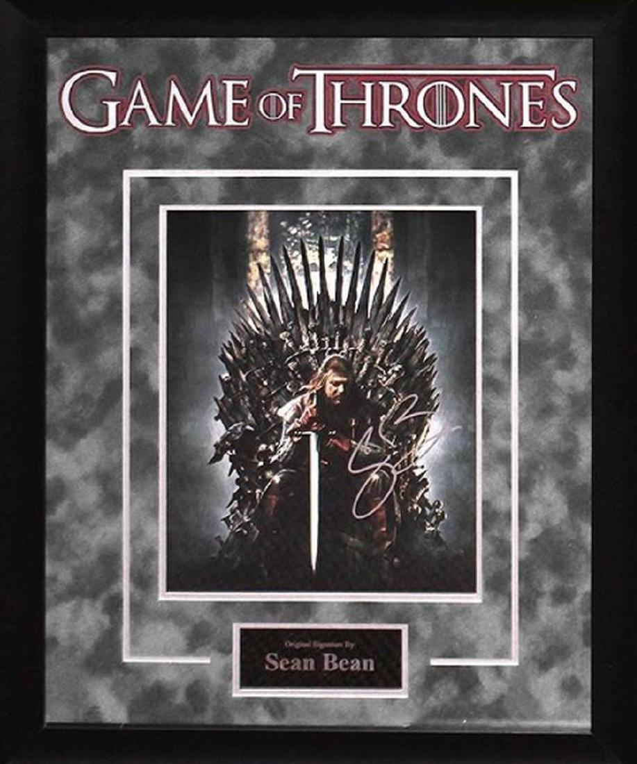 Game of Thrones - Signed by Sean Bean - Framed Artist