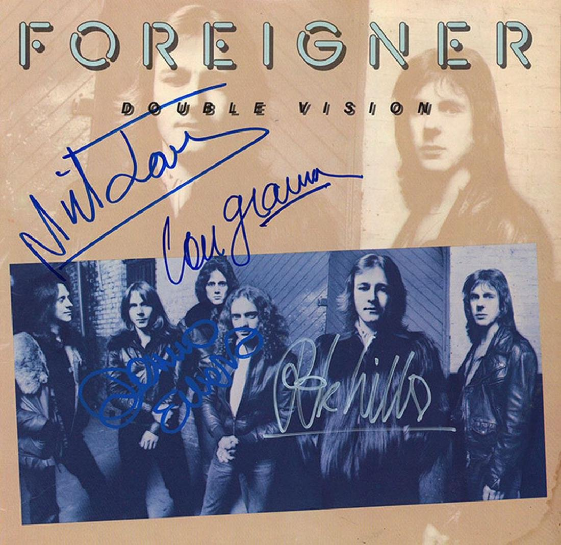Foreigner Band Signed Double Vision Album