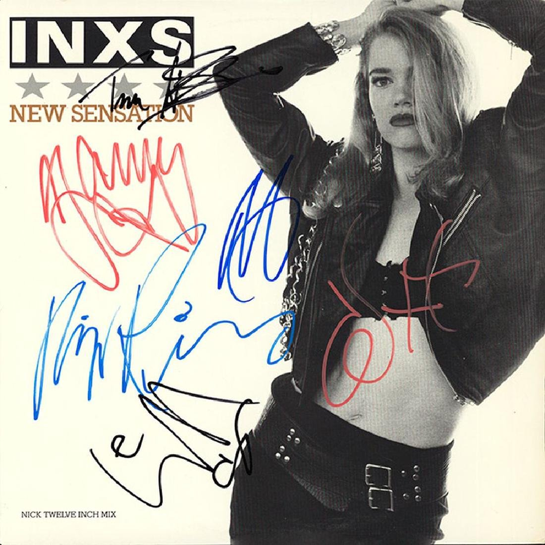 INXS Band Signed New Sensation Album
