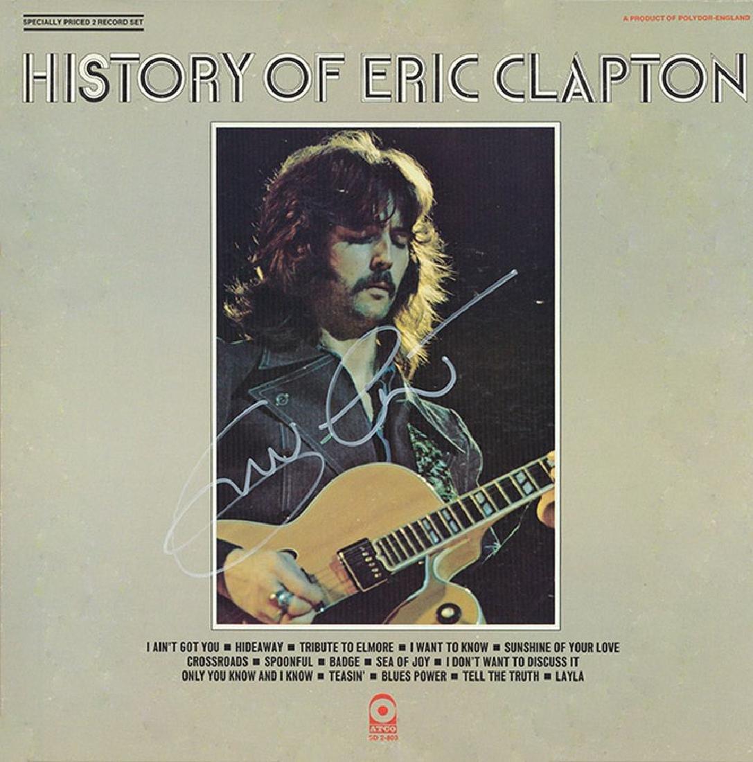 Eric Clapton Signed History of Eric Clapton Album