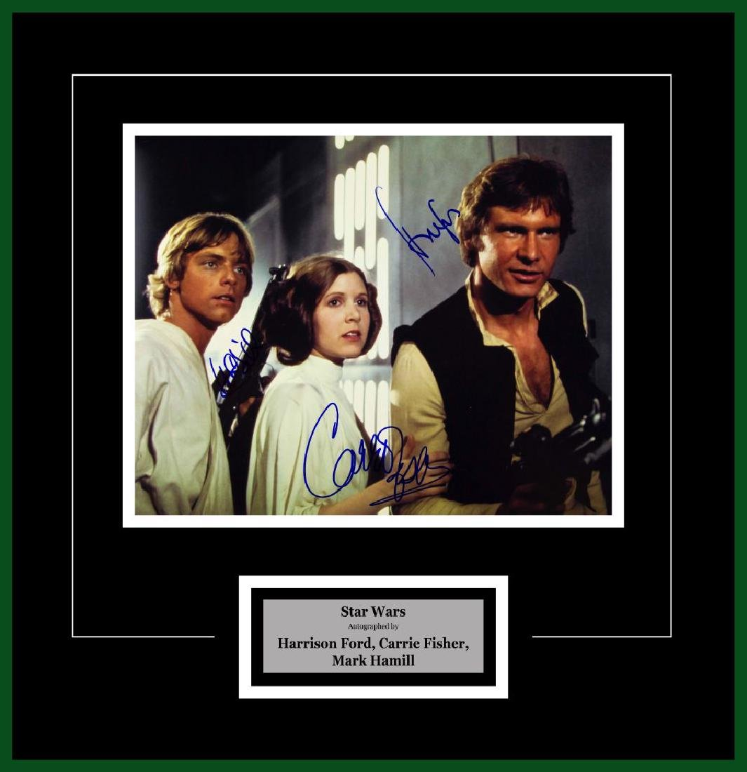 Hamill, Ford and Fischer Signed Star Wars Artist Series