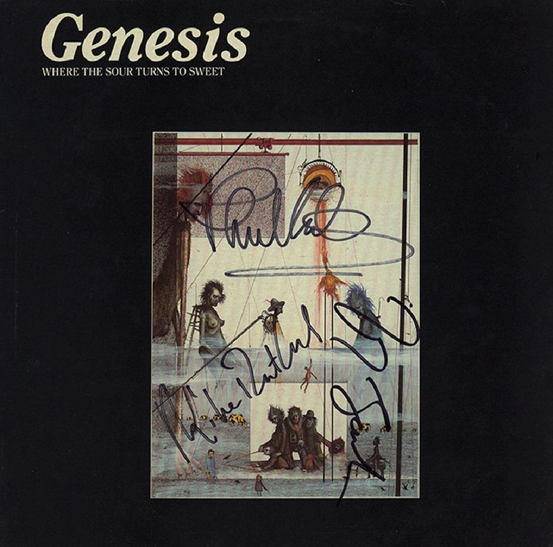 Genesis Band Signed Where The Sour Turns To Sweet Album