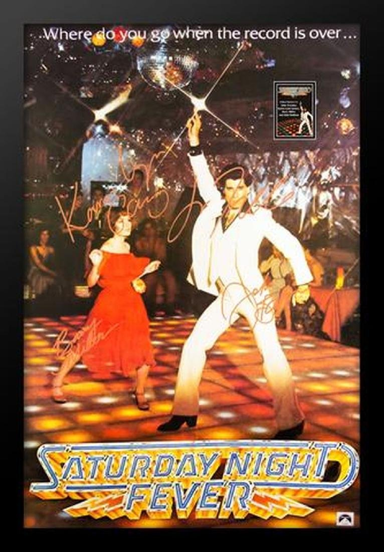 Saturday Night Fever - Signed Movie Poster