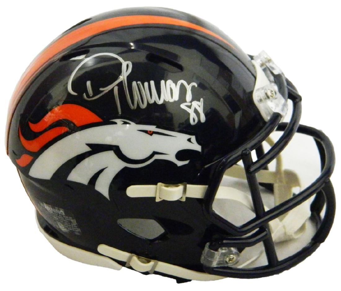 Demaryius Thomas Signed Denver Broncos Riddell Speed