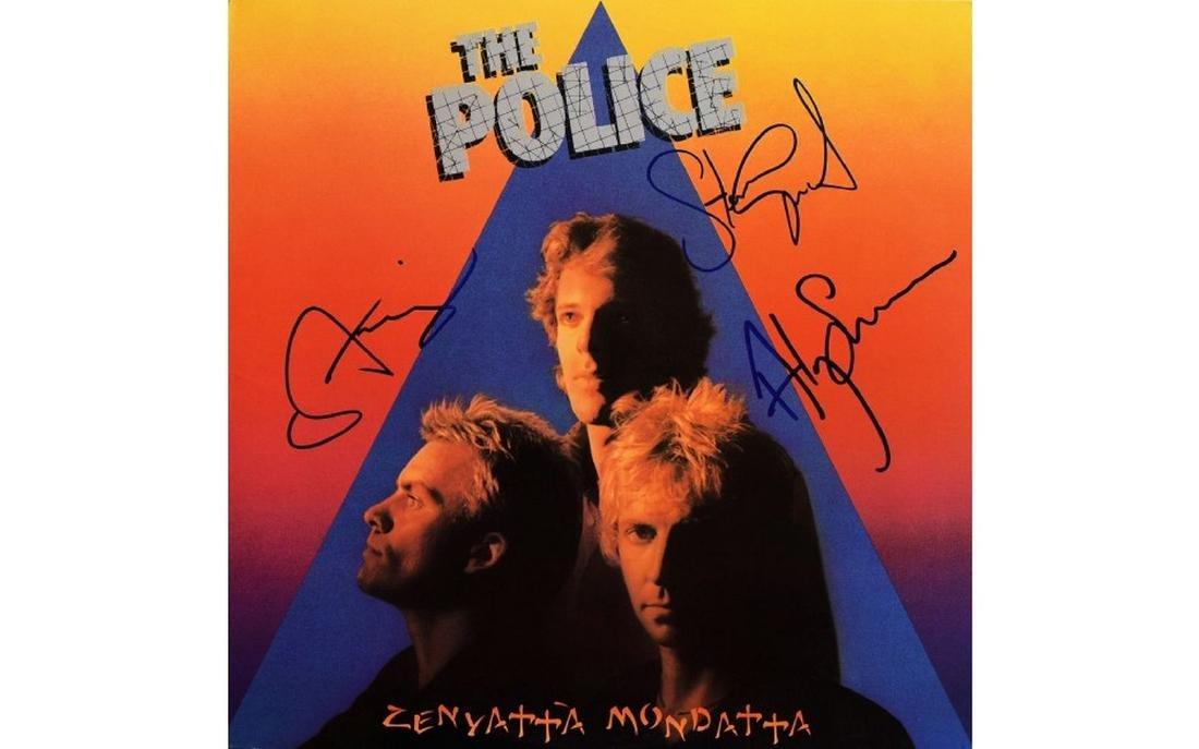 Police Signed Zenyatta Mondatta - 1980 Album