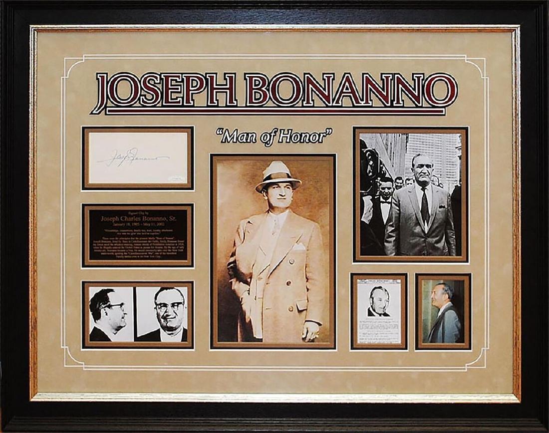 Joseph Bonanno Autographed Collage