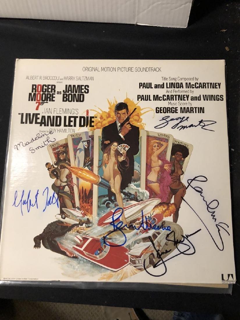 James Bond Live and Let Die Signed Album