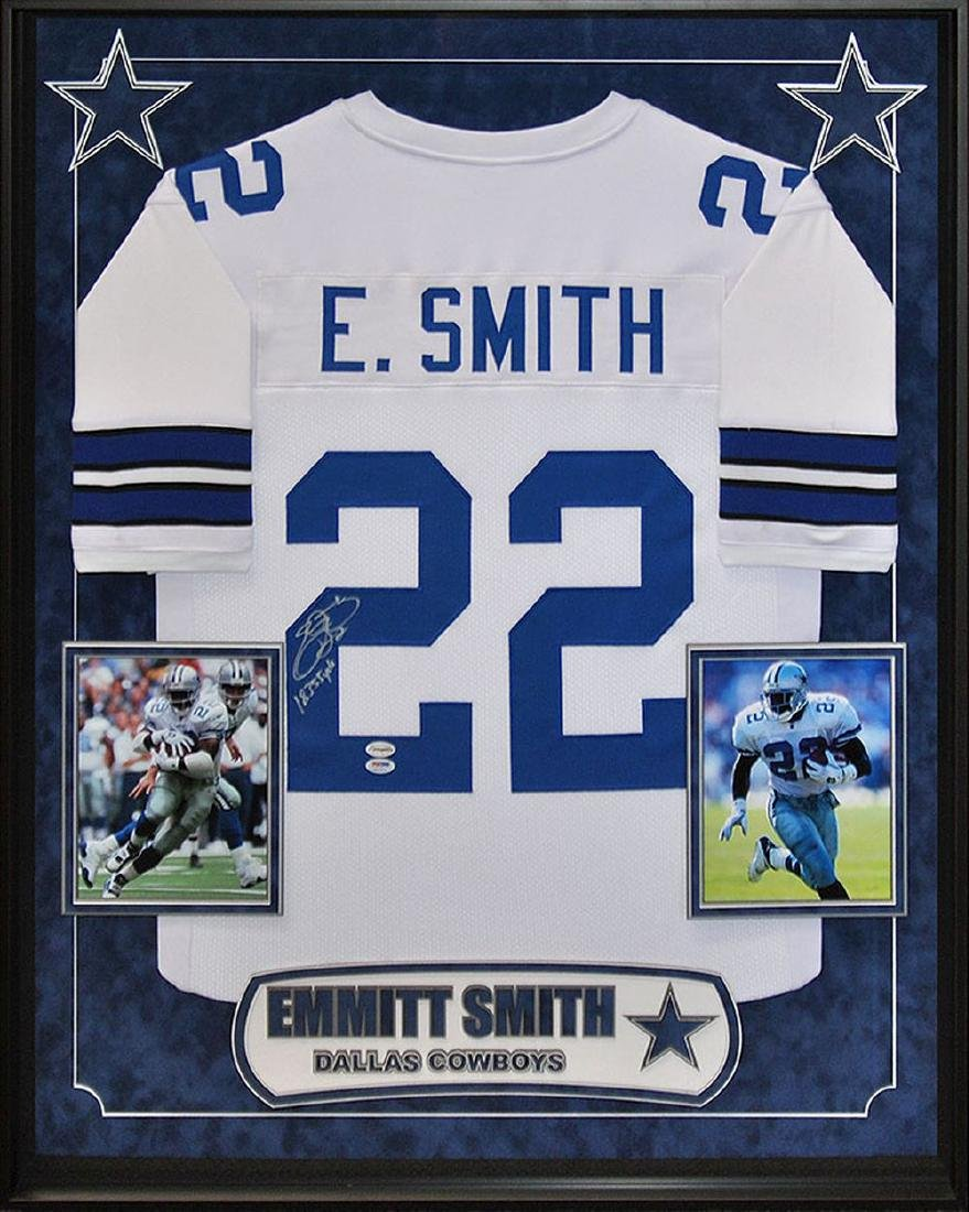 Emmitt Smith Signed Cowboys Jersey