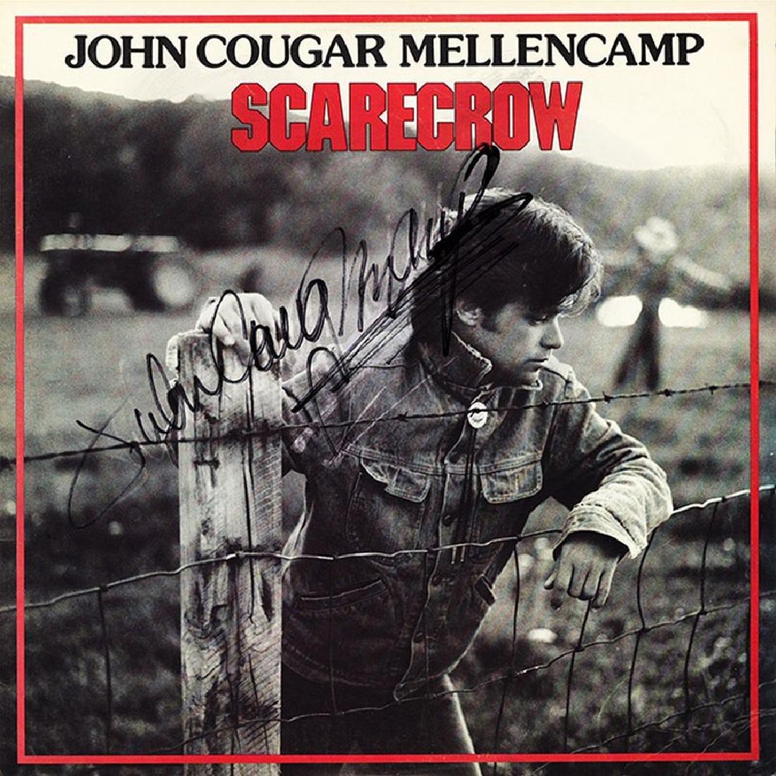 John Cougar Mellencamp Signed Scarecrow Album