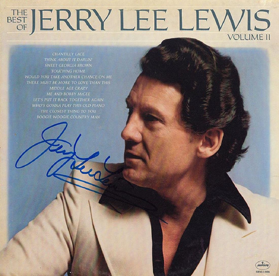 Jerry Lee Lewis Signed The Best Of Jerry Lee Lewis