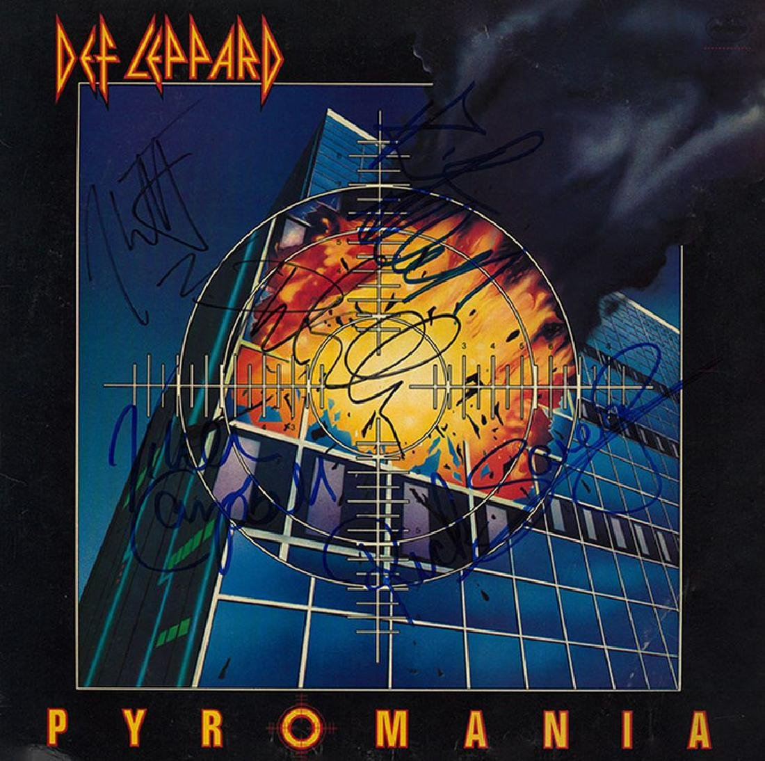 Def Leppard Band Signed Pyromania Album