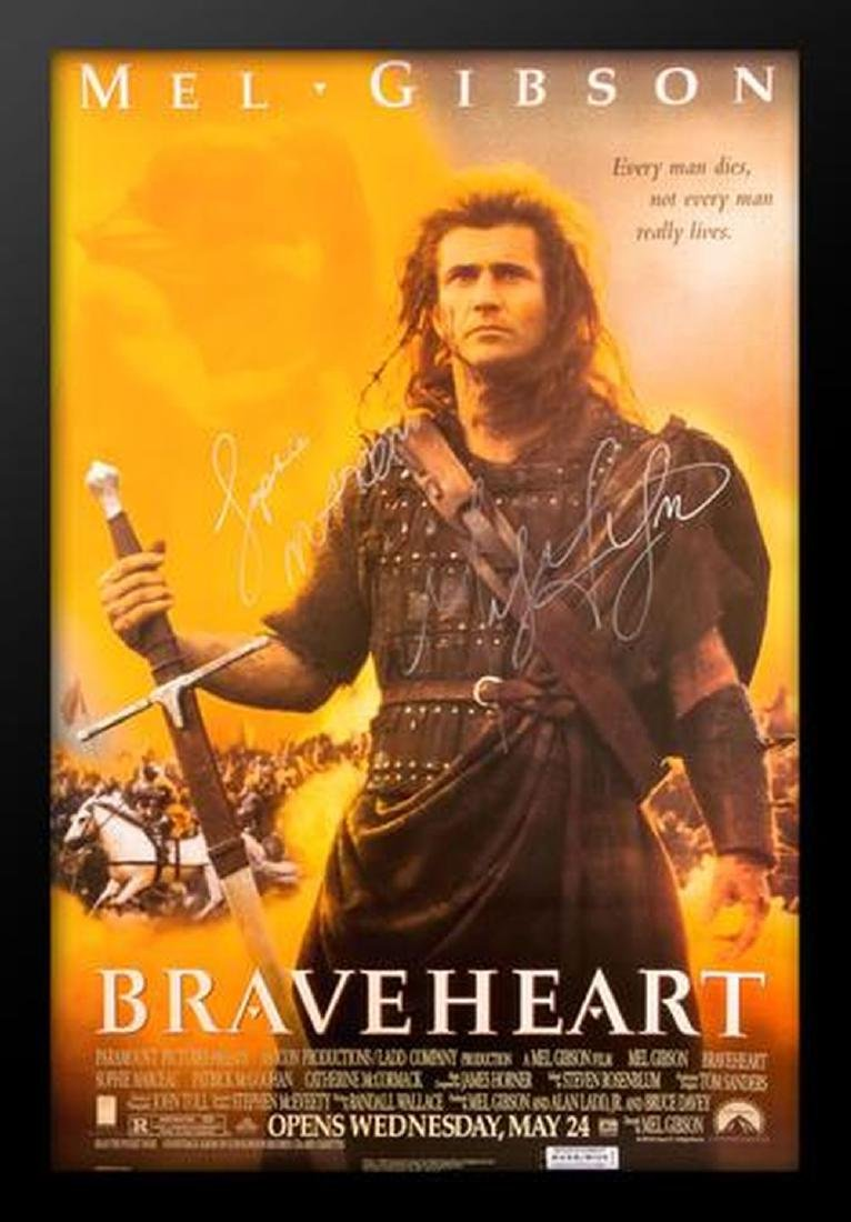 Braveheart - Signed Movie Poster